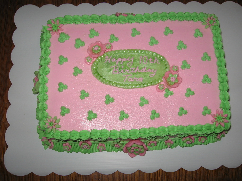 Miraculous Hot Pink And Green Birthday Cake Cakecentral Com Funny Birthday Cards Online Alyptdamsfinfo