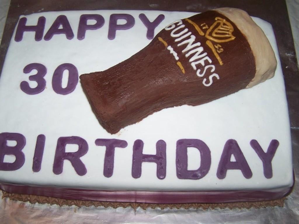Wondrous Guinness 30Th Birthday Cake Cakecentral Com Birthday Cards Printable Benkemecafe Filternl