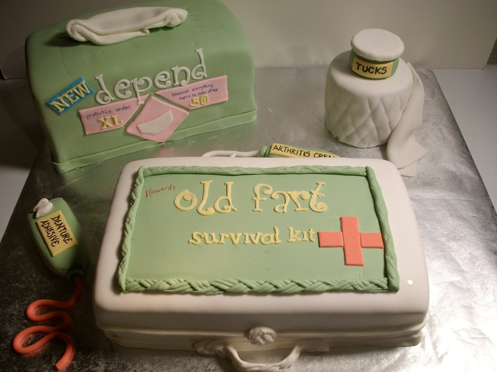 Cool Old Farts Survival Kit Cakecentral Com Funny Birthday Cards Online Alyptdamsfinfo