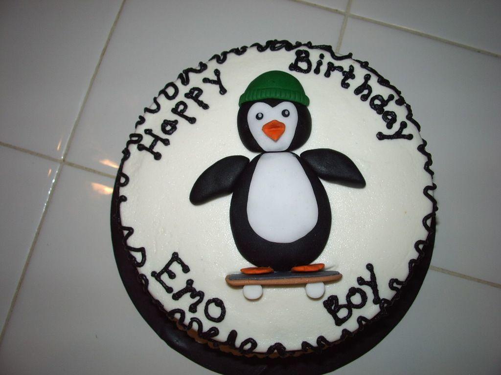 Penguin Emo Boy CakeCentralcom
