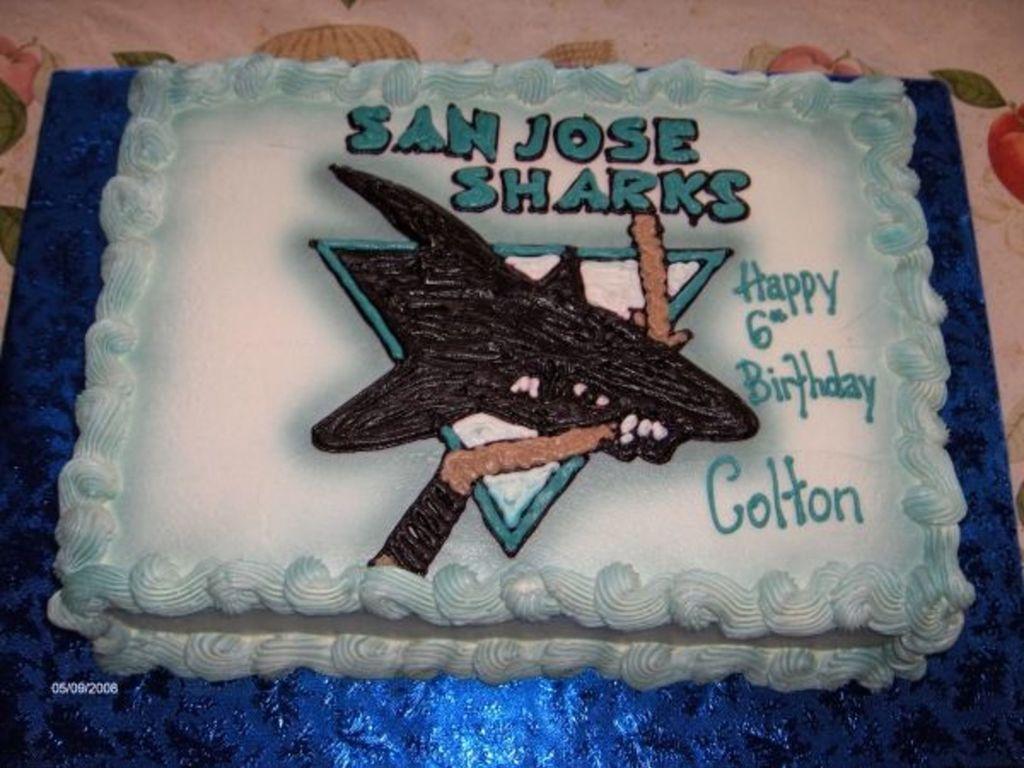 Astounding San Jose Shark Cake Cakecentral Com Funny Birthday Cards Online Inifofree Goldxyz