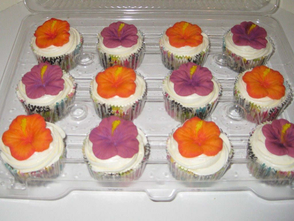 Hawaiian Hibiscus Cupcakes Cakecentralcom