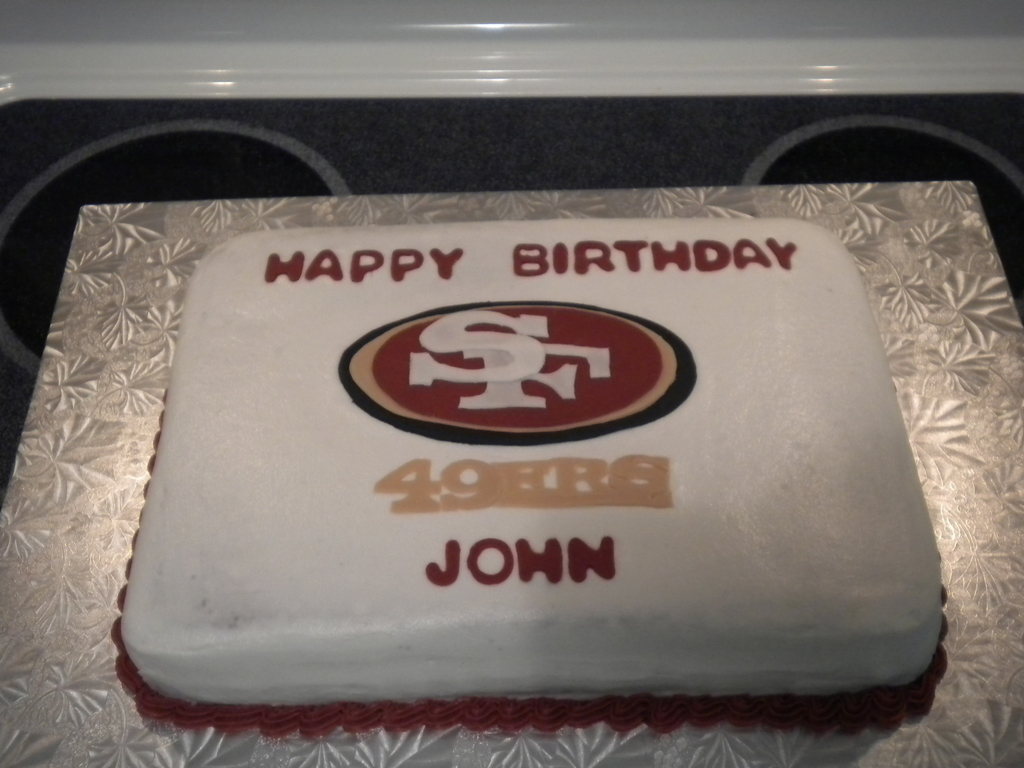 San Francisco 49ers Birthday Cake Cakecentral