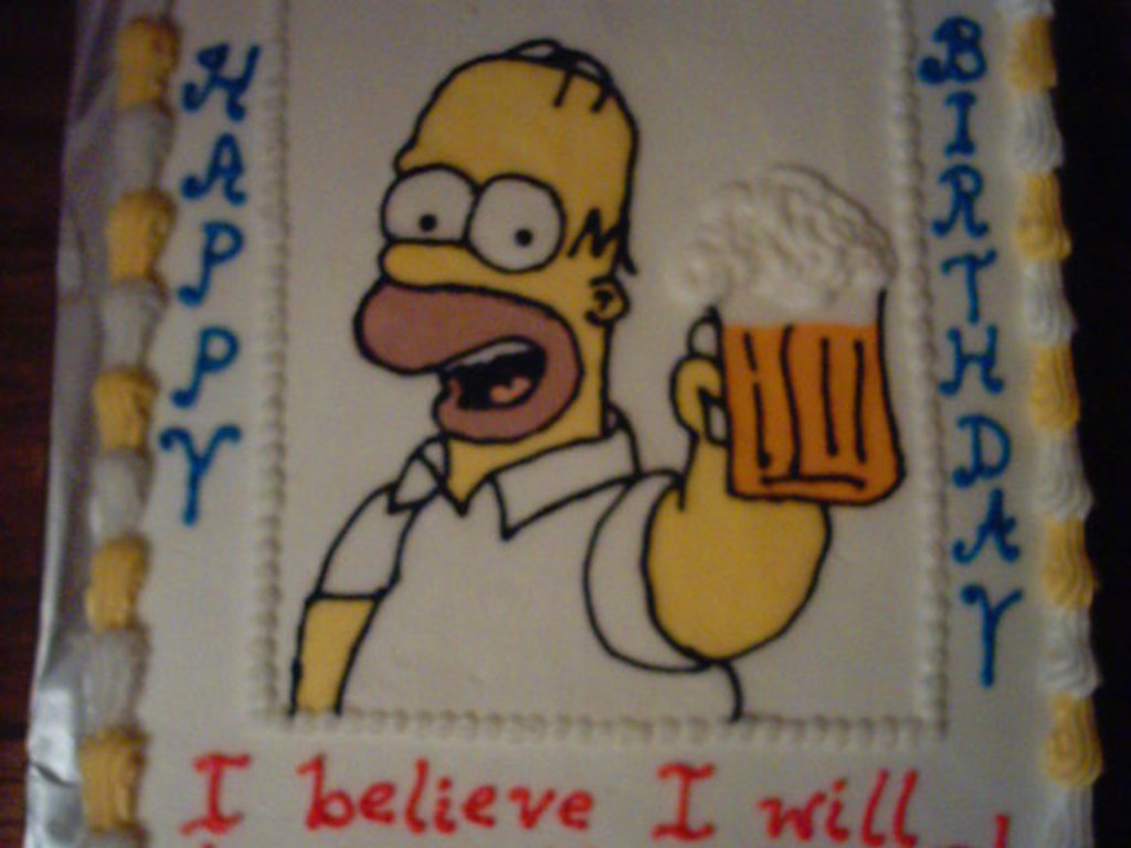 Pictures on Homer Simpson Birthday Cake,