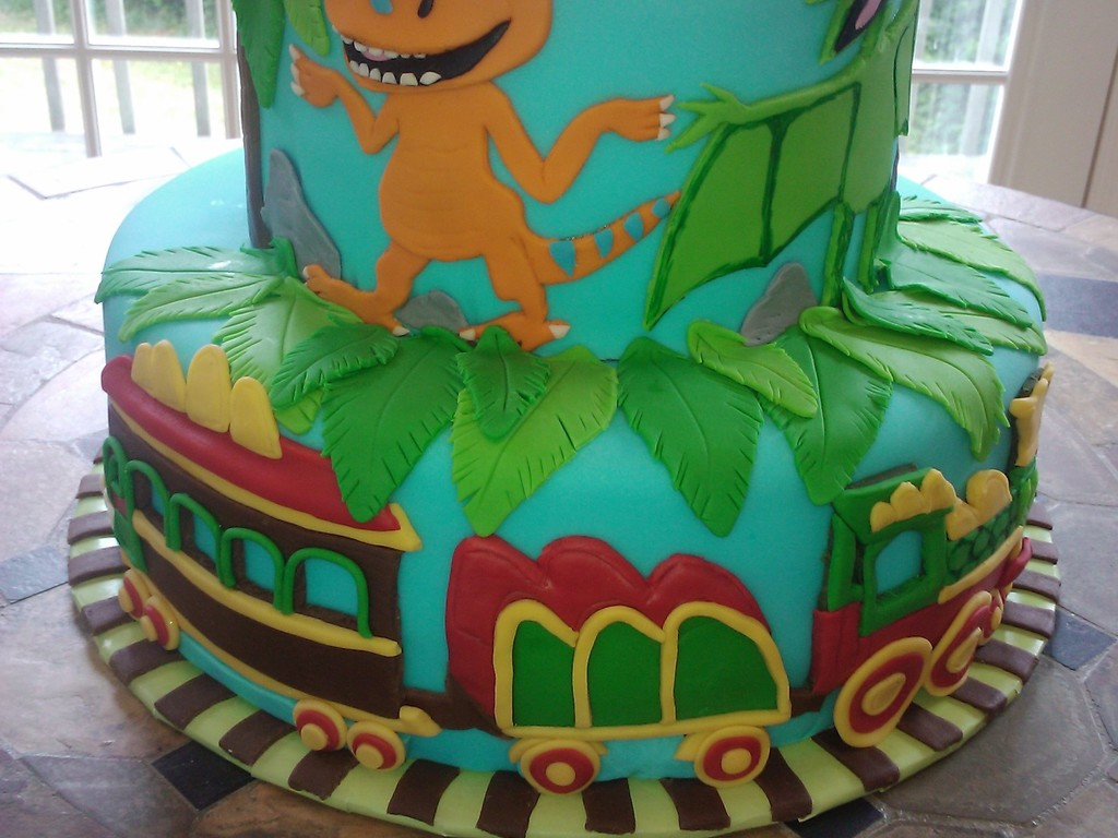 Awesome Dinosaur Train Birthday Cake Cakecentral Com Funny Birthday Cards Online Alyptdamsfinfo