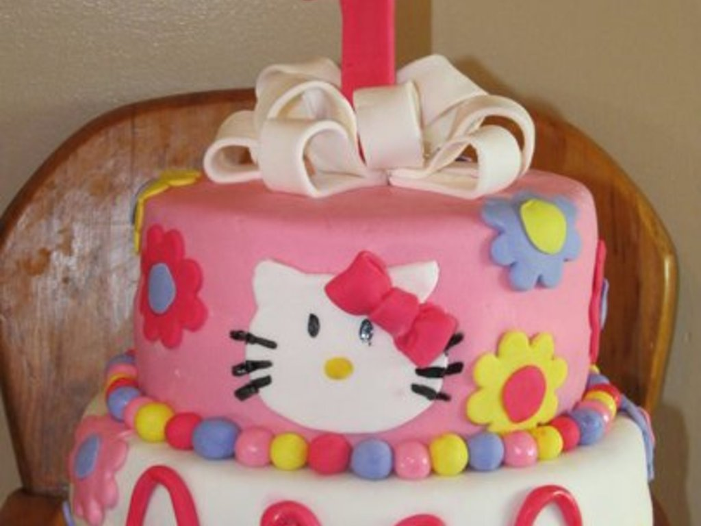 Astonishing Hello Kitty First Birthday Cakecentral Com Funny Birthday Cards Online Inifodamsfinfo