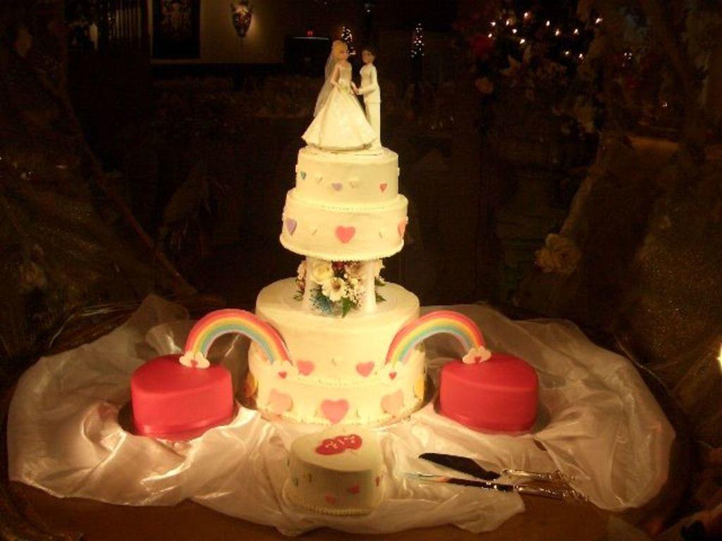 Heart rainbow Wedding Cake CakeCentral