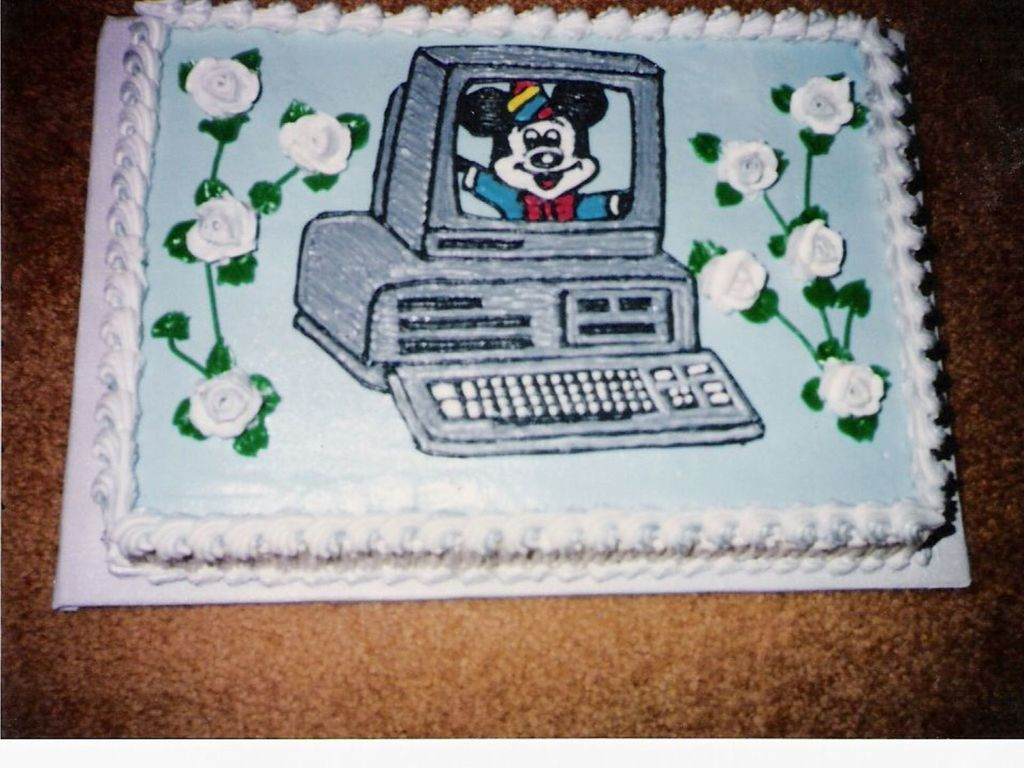 Astonishing Computer Birthday Cake Cakecentral Com Funny Birthday Cards Online Barepcheapnameinfo