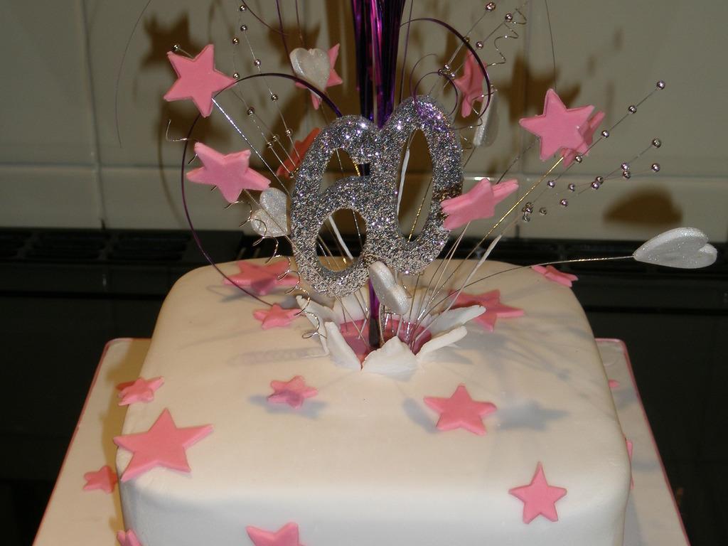 Ladies 60Th Birthday Cake Explosion