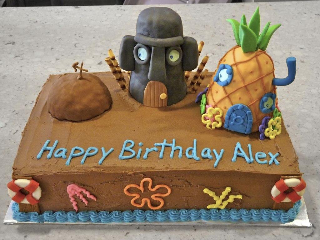 Sensational Bikini Bottom Birthday Cake Cakecentral Com Funny Birthday Cards Online Kookostrdamsfinfo