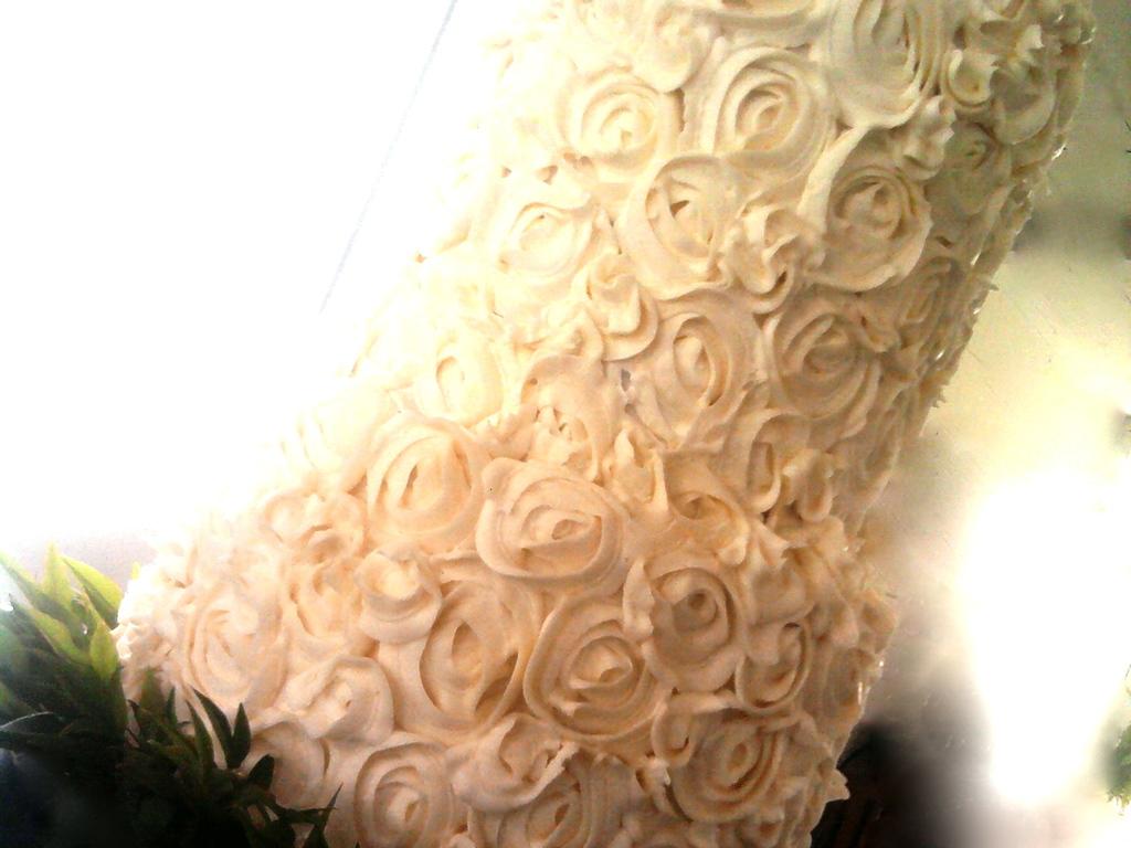 Rose Swirl Wedding Cake - CakeCentral.com