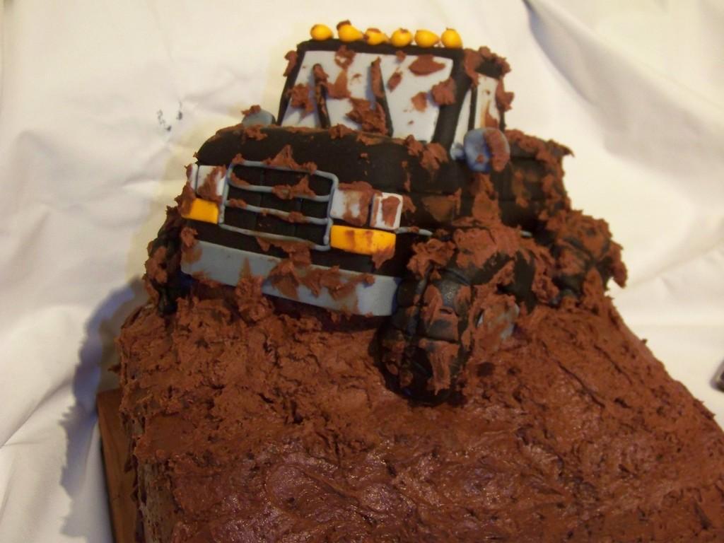 Sensational Monster Truck Mudding Birthday Cake Cakecentral Com Funny Birthday Cards Online Aboleapandamsfinfo