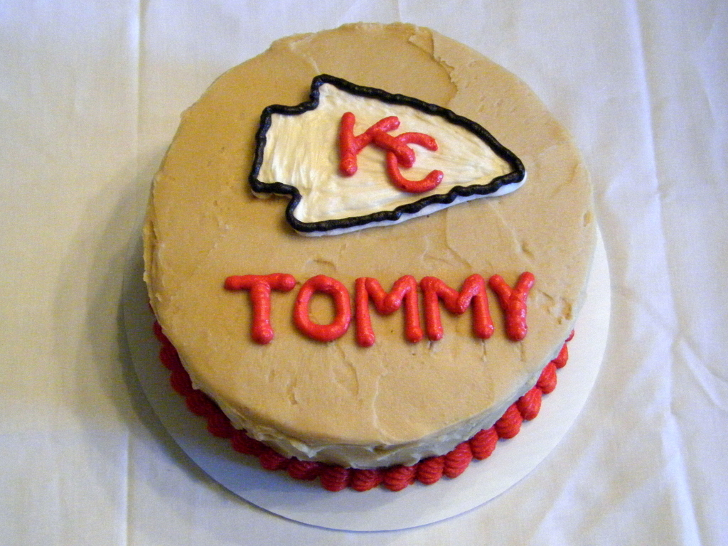 Remarkable Kansas City Chiefs Birthday Cake Cakecentral Com Funny Birthday Cards Online Overcheapnameinfo