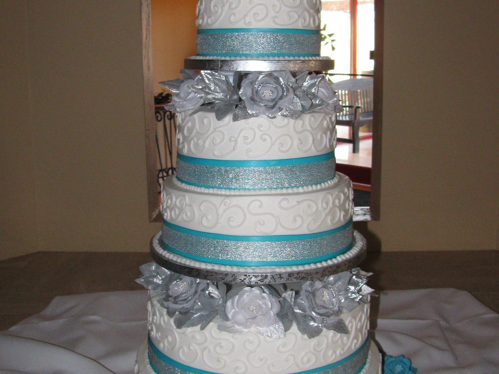 Tiffany Blue And Silver Wedding Cake Cakecentral Com