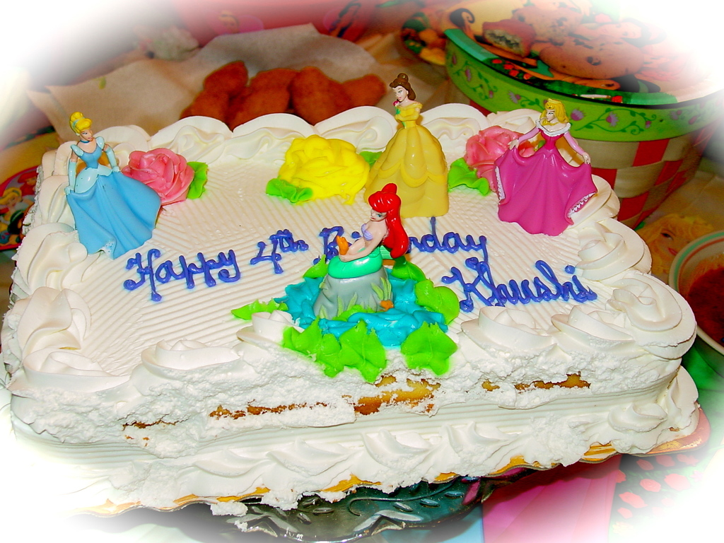 Princess Birthday Cake For My Little Princess Khushi Cakecentral Com