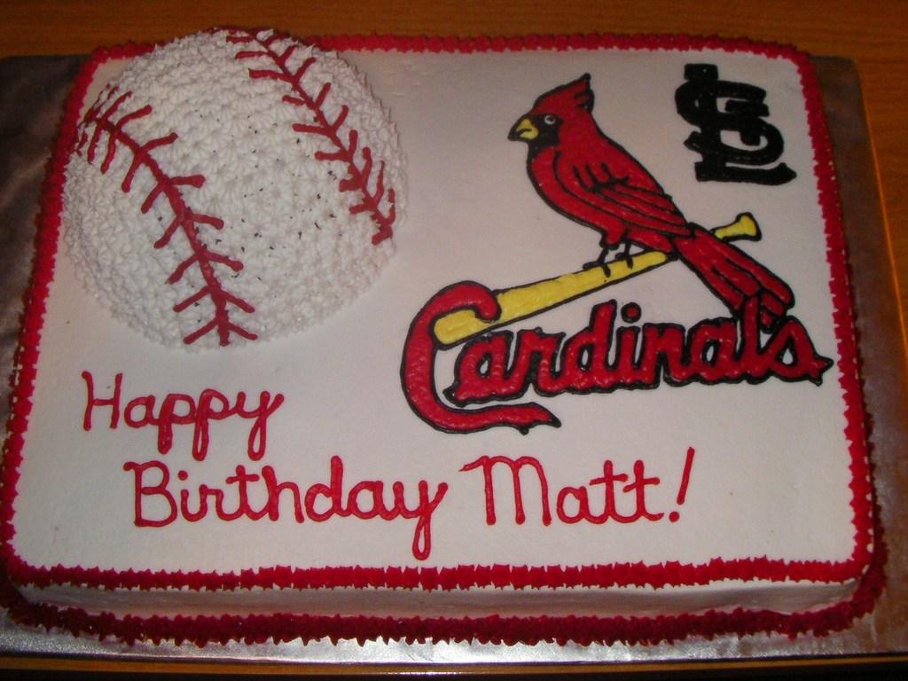 St Louis Cardinal Cake Cakecentral