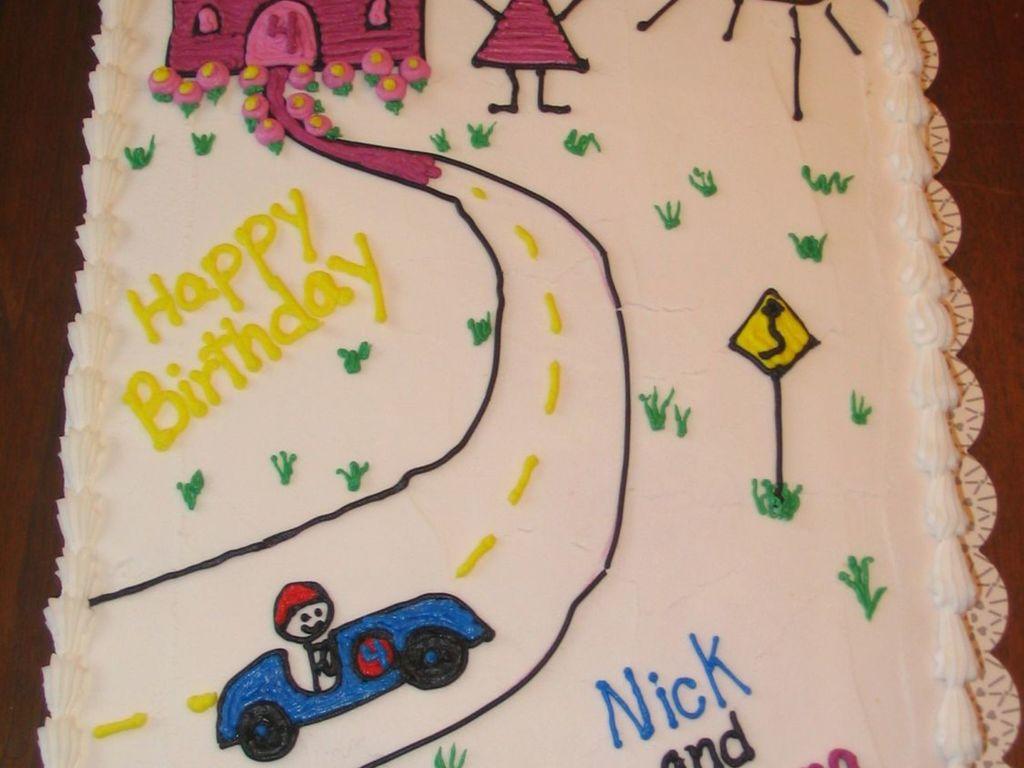 Boygirl Twin Birthday Cakecentral