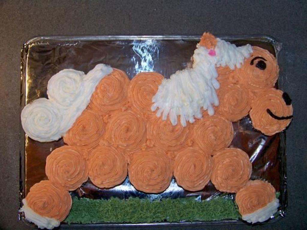 Horse Cake Made Of Cupcakes Cakecentral Com