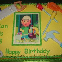 Handy Manny With Tools Handy Manny edible image with mmf tools. First time to make characters out of fondant. Lots of lessons learned!