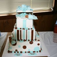 Twins Baby Shower Baby shower for twin boys. Buttercream, gumpaste, and fondant.