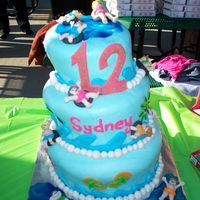 Waterpark Cake birthday cake for my niece. party held at a waterpark