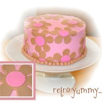 Retro Yummy... I was a bit dissappointed in the brown color of this cake - I was hoping it would be more vibrant. Next time I'll add even more...