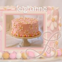 Leighanne I have decided to start naming my cakes after the people they are made for, so meet Leighanne. :) This is a confetti cake with cherry icing...