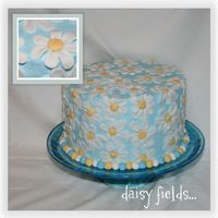 Daisy Fields This is my favorite cake yet! I was thinking about doing a cake covered in daisies and it's all I had hoped it would be. It took a...