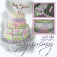 Bubble Gummy Yummy I made this cake for a staff party we attended this weekend. It was a barbeque and really didn't call for a four-tier cake but I...