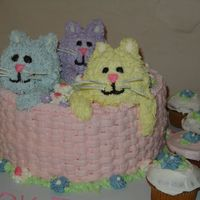 Kittens In A Basket  Made 3 kittens for my daughter's 3rd birthday. Was a fun one to make. My first attempt at basketweave and it wasn't as hard or...