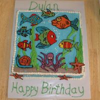 Fish Cake   fish are chocolate transfers. critiques welcome!