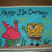 Spongebob And Patrick   21st birthday for a spongebob lover. Chocolate transfer bob and patrick
