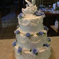 Wedding Cake This is my second wedding cake. I don't have photos of the first one. On this one i used the white almond sour cream cake recipe and...
