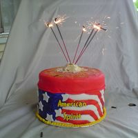 American Spirit here's a tip, when using sparklers on a cake use the metal ones, the wood ones can and will drop pieces on your cake and table,...