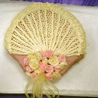 Victorian Fan I used a shell pan for the shape and buttercream to frost.