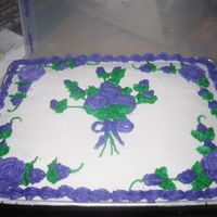 Purple Roses Cake I made from all buttercream.