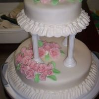 Last Course   Fondant covered with fondant roses