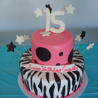 Zebra Birthday Smooth frosted buttercream cake with MMF accents. It was a design sent to me by the birthday girl. I'm not sure who did create the...