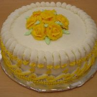 Class 1 Cake my first rose cake