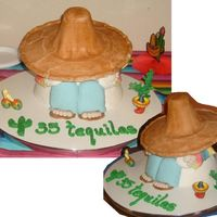 35 Tequilas Mexican Siesta cake for my birthday on May 5th (5 de Mayo). Allmexican theme birthday!
