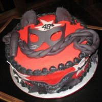 "Catwoman Cake This was for a surprise birthday party. The man was courting another woman and she was turning 45. He calls her the ""catwoman""..."