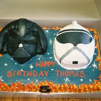 Star Wars All buttercream with fondant detailing.
