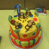 Monkey Business all BC with fondant monkies and bananas. Gumpaste one
