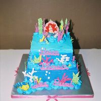 Little Mermaid Okay.... so I think everyone has tried this cake. Here is my try at it!