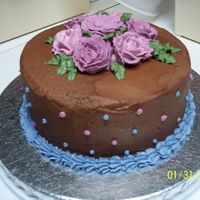 Final Wilton Course 1 Chocolate Its always good to think outside the box :) This cake wassssss soooooooooooo yummy!