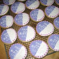 Half Birthday Cookies NFSC with RI. To celebrate my daughters 'half birthday' at school.