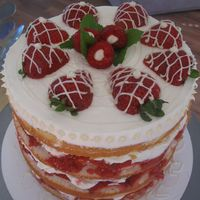 Strawberry/raspberry Cream Cake this is my favorite cake to make during strawberry season... so easy and SO GOOD!