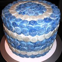 Blue Mosaic Cake This is a 4 layer lemon butter cake with lemon curd and blueberry filling, frosted with blueberry IMBC, and covered in MMF and chocolate...