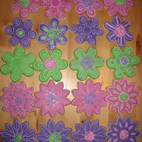 Sugar Cookies First try at NFSC with MMF and Antonia74 royal icing.