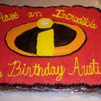 Incredibles Cupcake Cake - After Writing I really need to work on my writing skills!! Kinda pitiful I think...lol